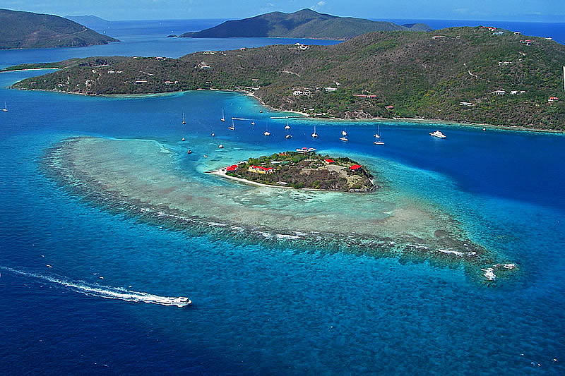 Marina Cay, off the east end of Tortola