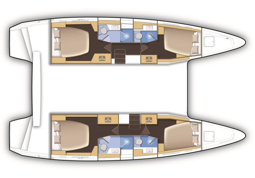 Lagoon 42 Lay-out