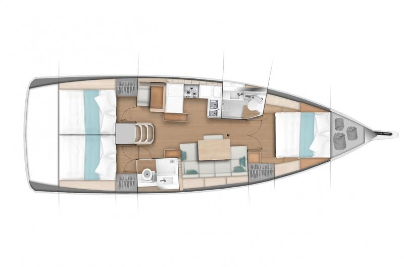 Lagoon 440 lay-out